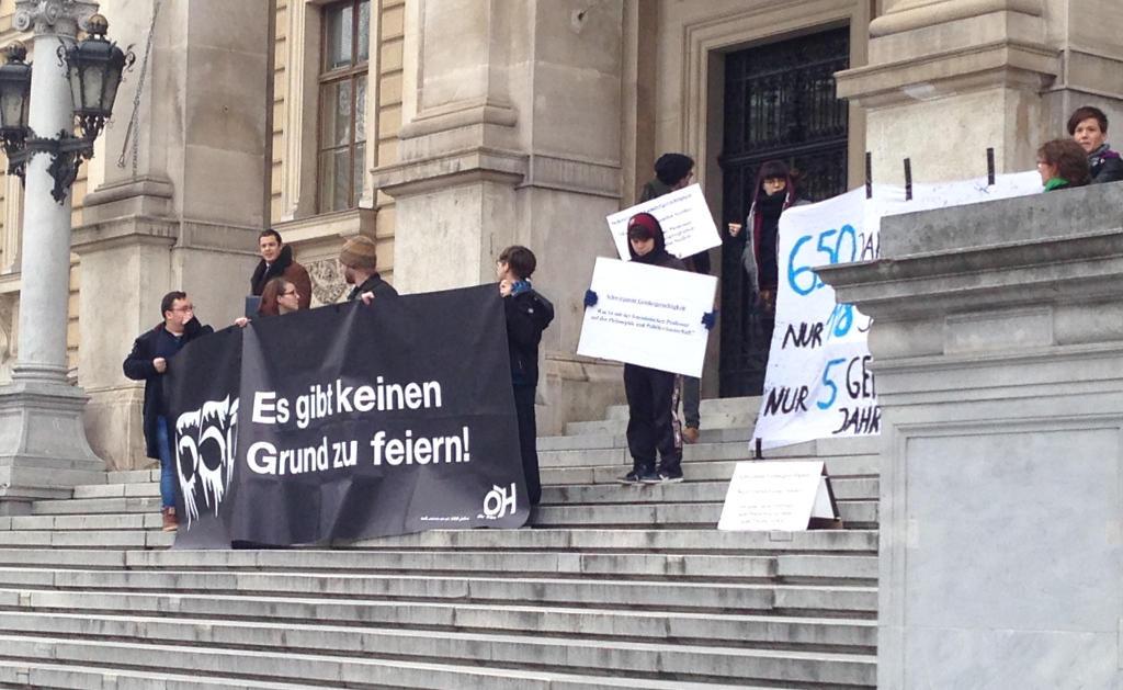650 Jahre Universität Wien: Die ÖH sieht keinen Grund zum feiern